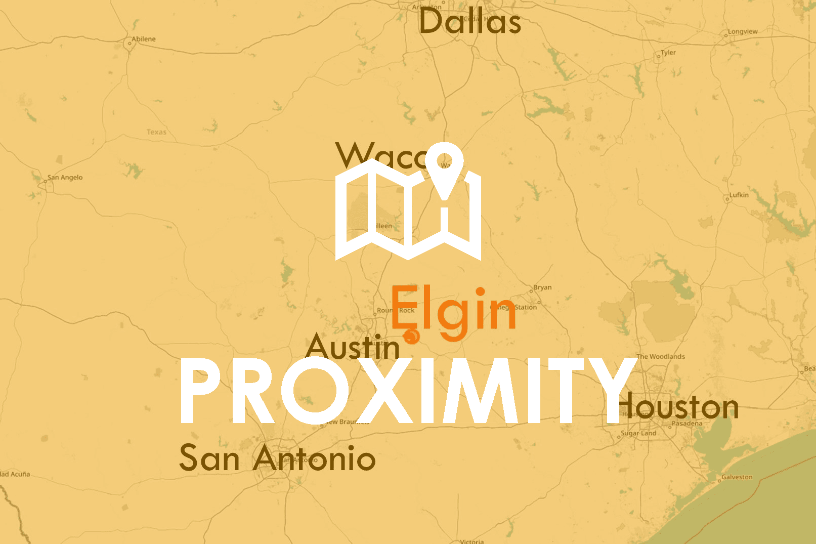 Elgin Map, San Antonio, Dallas, Austin, Waco, Houston