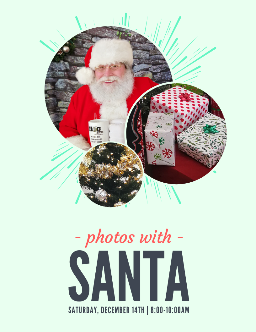 Photos with Santa Poster