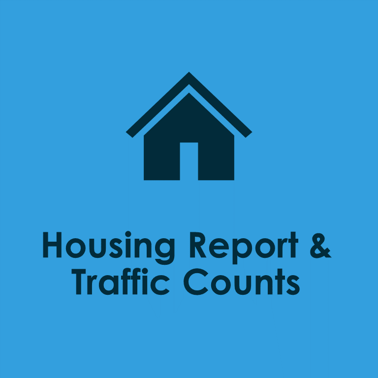 housing report and traffic counts