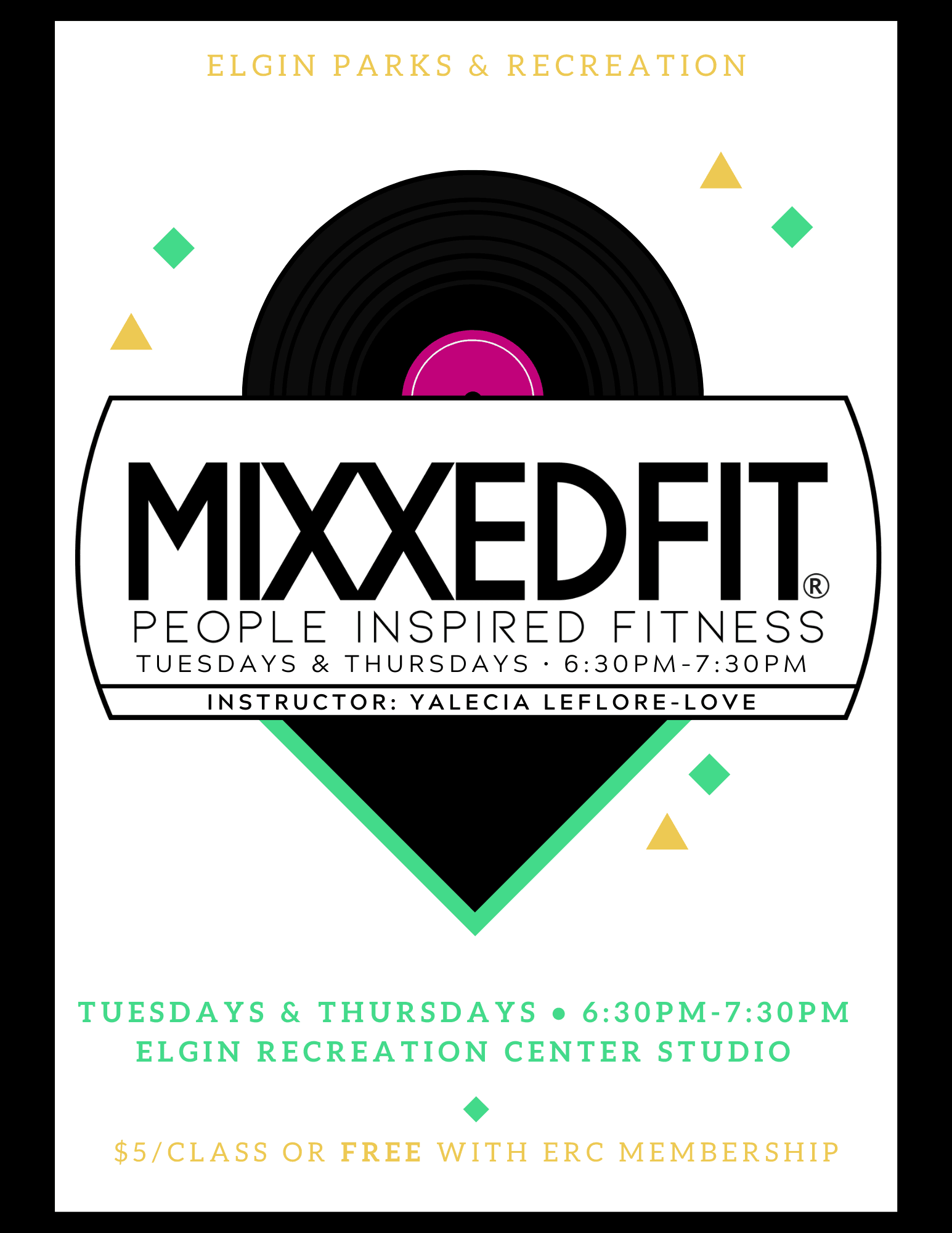 Mixxedfit Class Tuesdays and Thursdays
