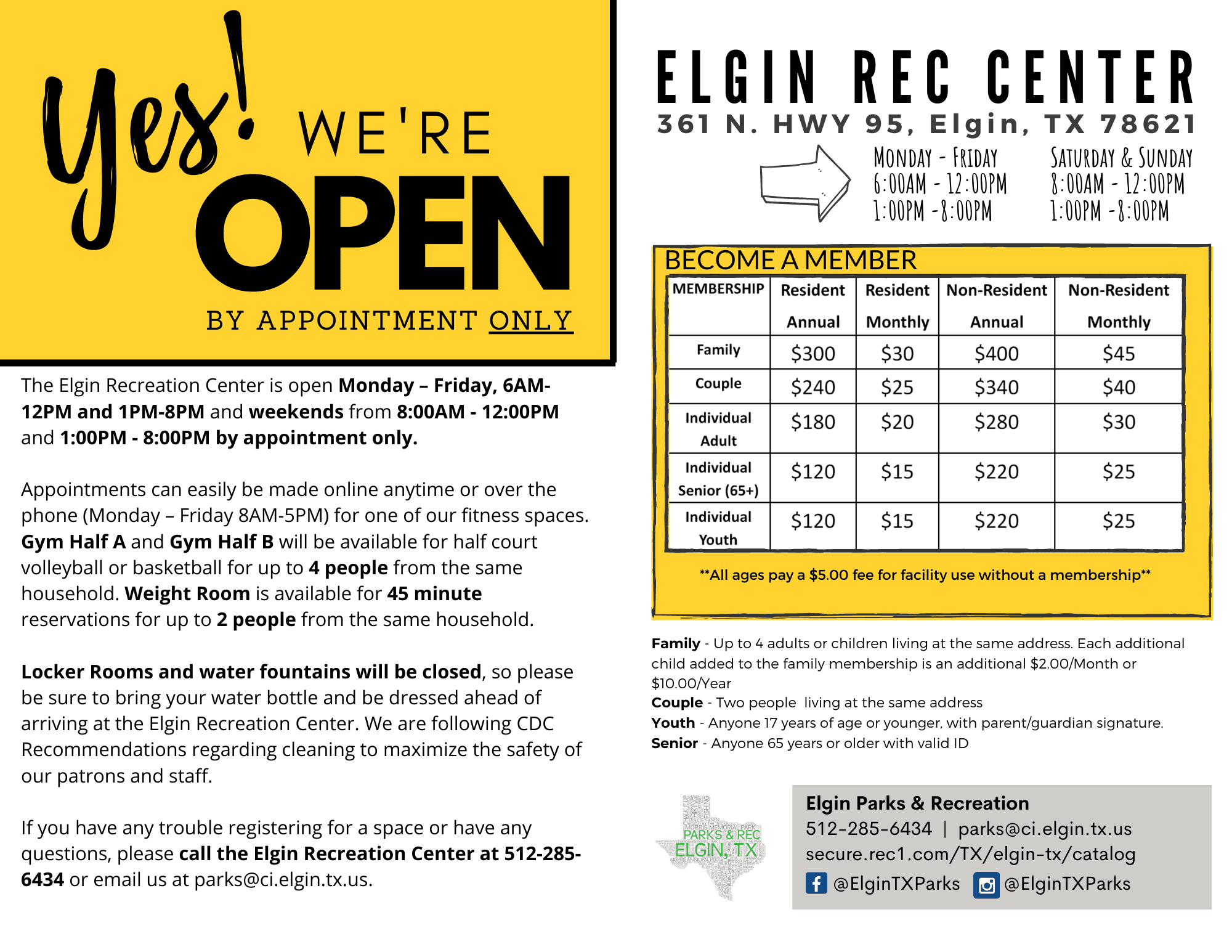 Yes We Are Open Flyer